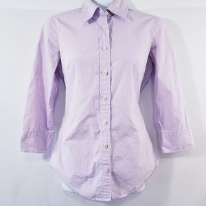 J.Crew Womens Top Perfect Shirt Size XS Purple Gin